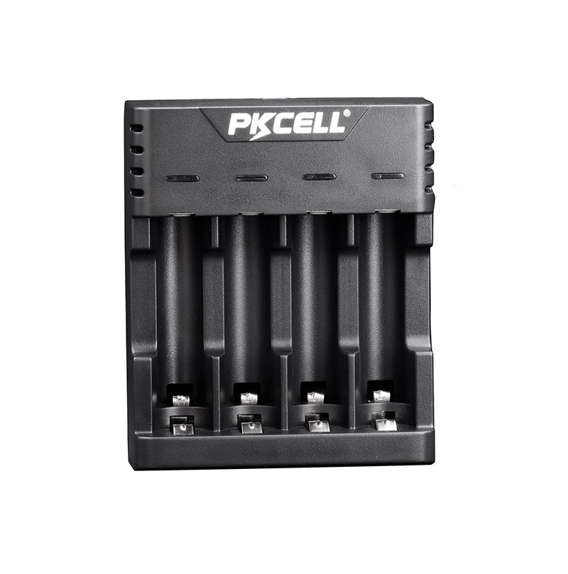 Зарядное устройство для аккумуляторных батарей AAA и AA Ni-MH NI-CD PKCELL со светодиодной индикацией