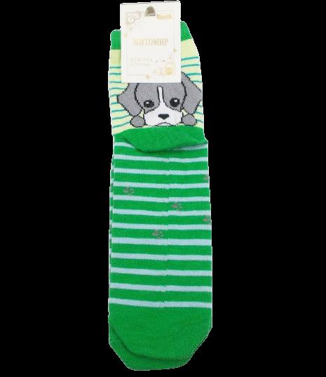 Шкарпетки жіночі собачка Mrs 36-40 зелені