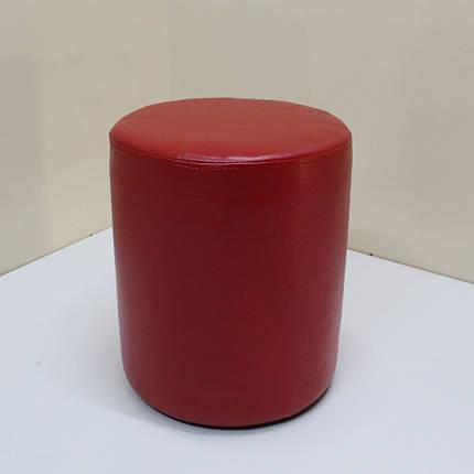 Пуф Sovalle Д36, экокожа глянцевая Ø38 см х 46 см красный 0109-03, фото 2