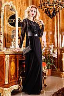 Женственное и очень романтичное вечернее платья в пол, микромасло, эко-кожа, перфорированная кожа,44-50 размер, фото 1