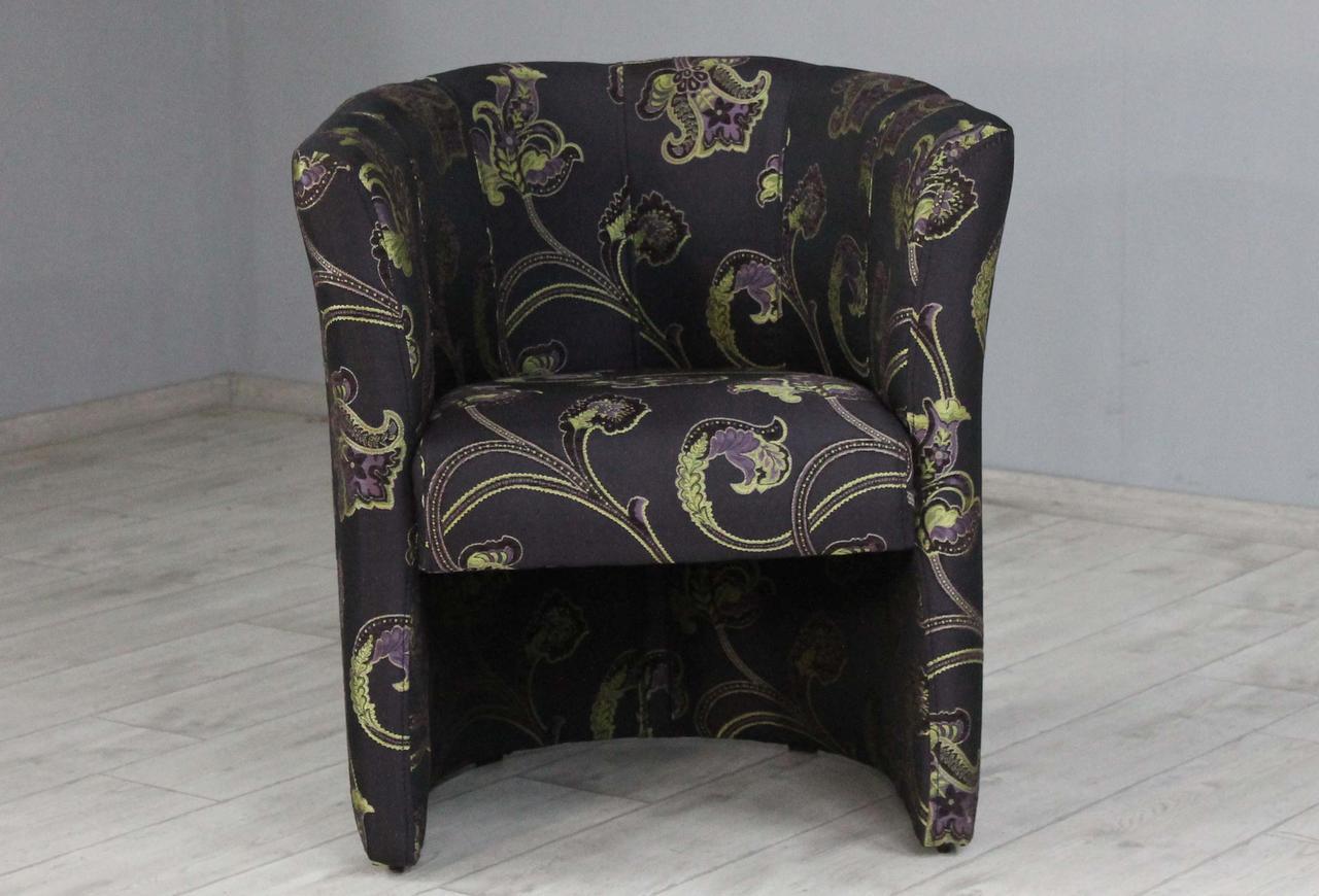 Кресло Sovalle Бонус,  жаккард темно-баклажановый, растительный узор 0447-10