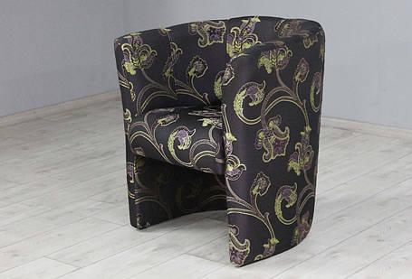Кресло Sovalle Бонус,  жаккард темно-баклажановый, растительный узор 0447-10, фото 2