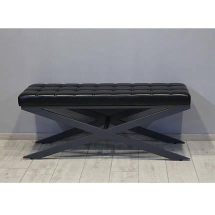 Банкетка Sovalle Сетра, екошкіра чорний, RAL7024, 0204-02, фото 2