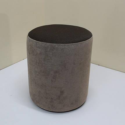 Пуф Sovalle Д36, велюр Ø38 см х 46 см коричневий 0109-15, фото 2