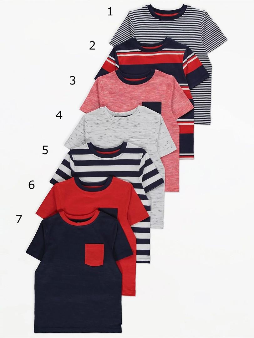 Разнообразные летние футболочки Джордж для мальчика (поштучно)