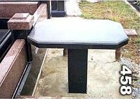 Гранитный стол на кладбище образец № 458