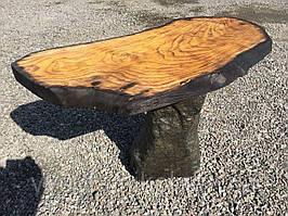 НАБОР. Журнальный столик из дерева Шелковицы и натурального гранита. Камень & гранит.