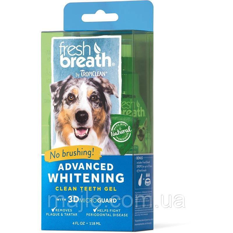 Tropiclean Fresh Breath Advanced Whitening відбілюючий гель д/чищення зубів у собак,118мл 001961