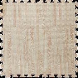 Go  Мягкий пол пазл EVA модульное напольное покрытие ЭВА влагостойкая панель-коврик 60х60х1 см белое дерево