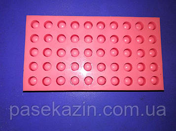 Форма силиконовая для изготовления 50 мисочек (под систему Никот)