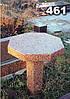 Гранитный стол на кладбище образец № 461