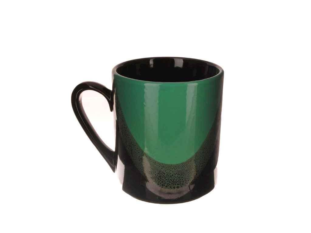 Чашка 300мл Офісна Крапля чорно-бірюзова (6шт. в уп.) ТМ ПОЛИГЕНЬКО