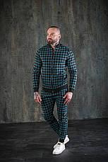Мужской спортивный костюм в клетку бомбер и штаны Scot Green, фото 2