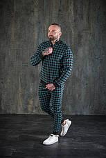 Мужской спортивный костюм в клетку бомбер и штаны Scot Green, фото 3