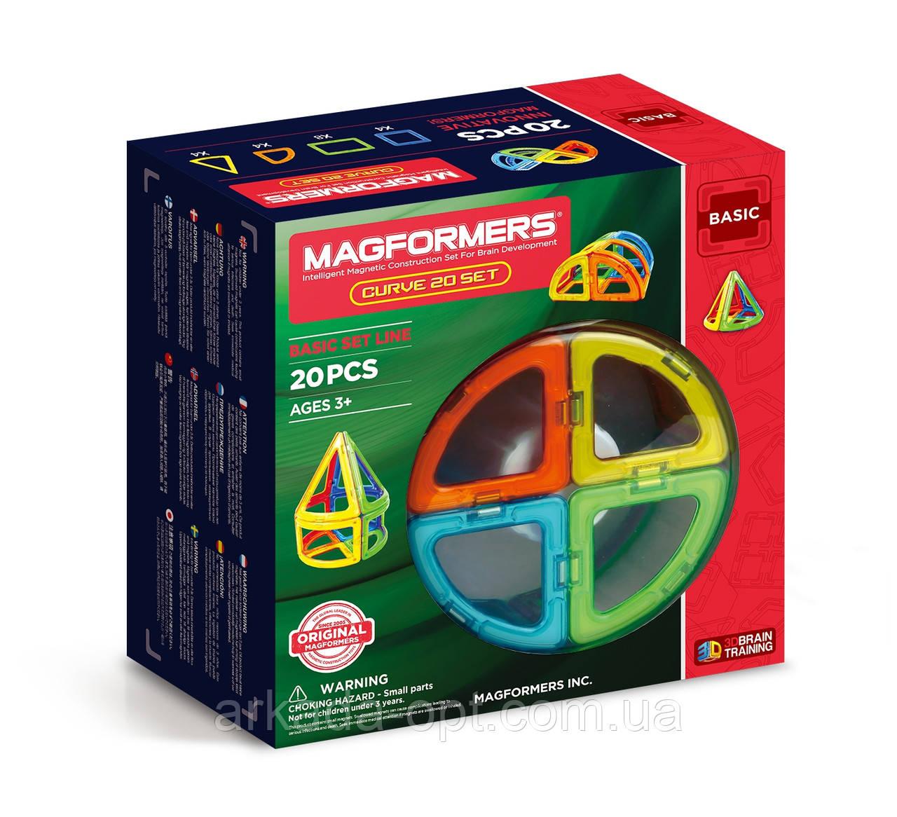 Магнитный конструктор Magformers Базовый набор Дуга 20 элементов (701010)