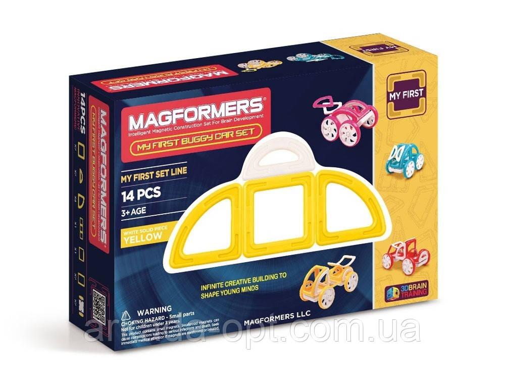 Магнітний конструктор Magformers Мій перший жовтий автомобіль 14 елементів (702005)
