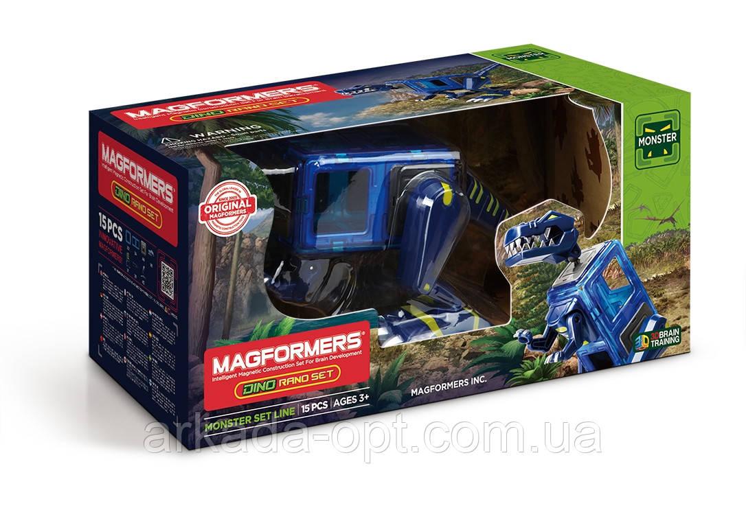 Магнітний конструктор Magformers Тираннозавр 15 елементів (716003)