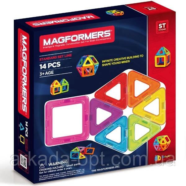 Магнітний конструктор Magformers Базовий набір 14 елементів (701003)