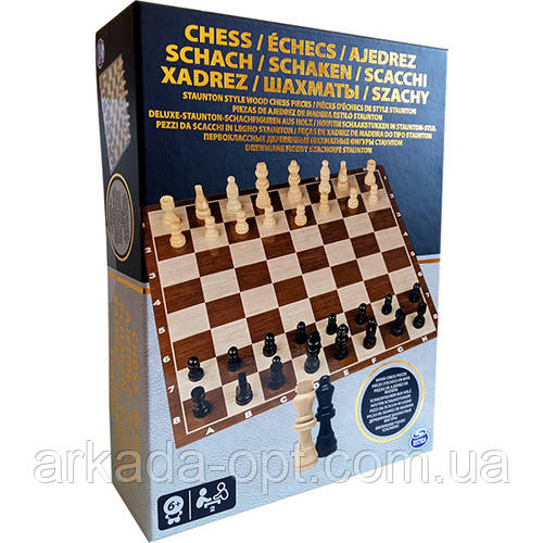 Настільна гра Spin Master Games Шахи з дерев'яними фігурами (SM98367/6033313)