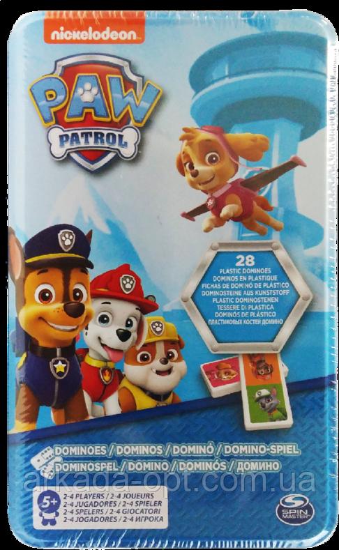 Гра настільна в жерстяній коробці Spin Master Games Доміно Щенячий патруль (SM98408/6033087)
