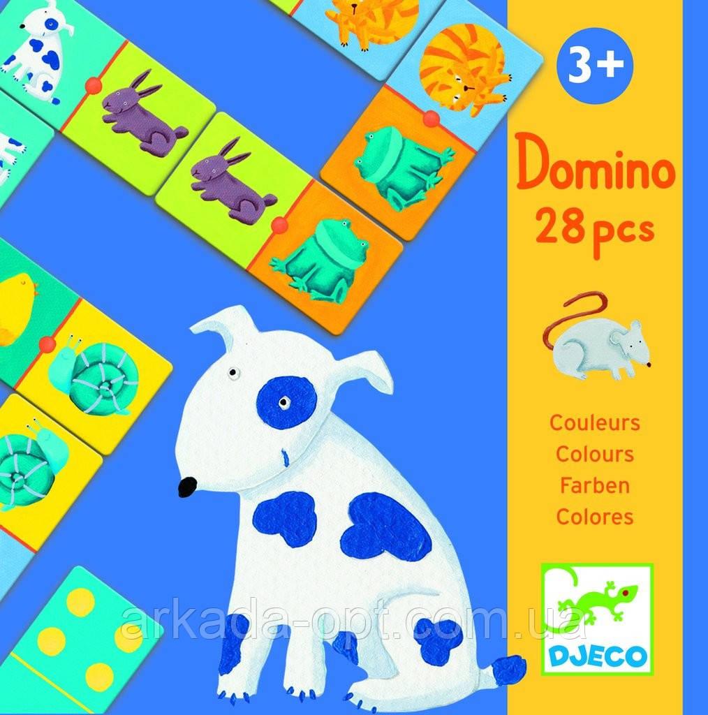 Настольная игра DJECO Детское домино Цвета животных (DJ08111)