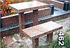 Гранитный стол и лавочка на кладбище образец № 462