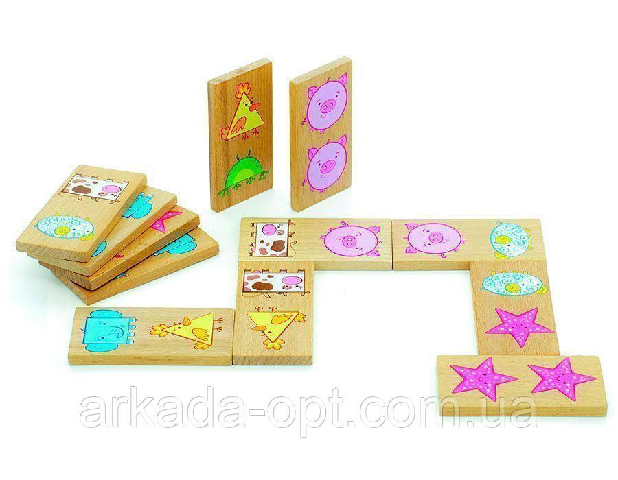 Настольная игра Мир деревянных игрушек Домино Фигуры (Д394)