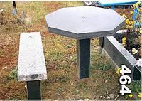 Гранитный стол и лавочка на кладбище образец № 464