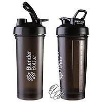 Пляшка для води BlenderBottle 1000мл, шейкер чорний SKL11-289558, фото 1
