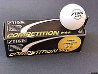 Кульки для настільного тенісу Stiga 3 Competition SKL11-289799, фото 1