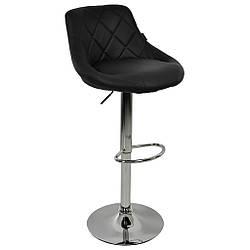 Барний стілець зі спинкою Bonro B-801B чорний
