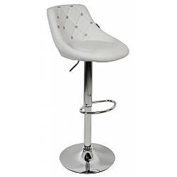 Барний стілець зі спинкою Bonro B-801C білий