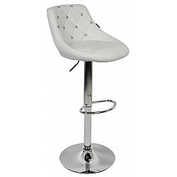 Барный стул со спинкой Bonro B-801C белый