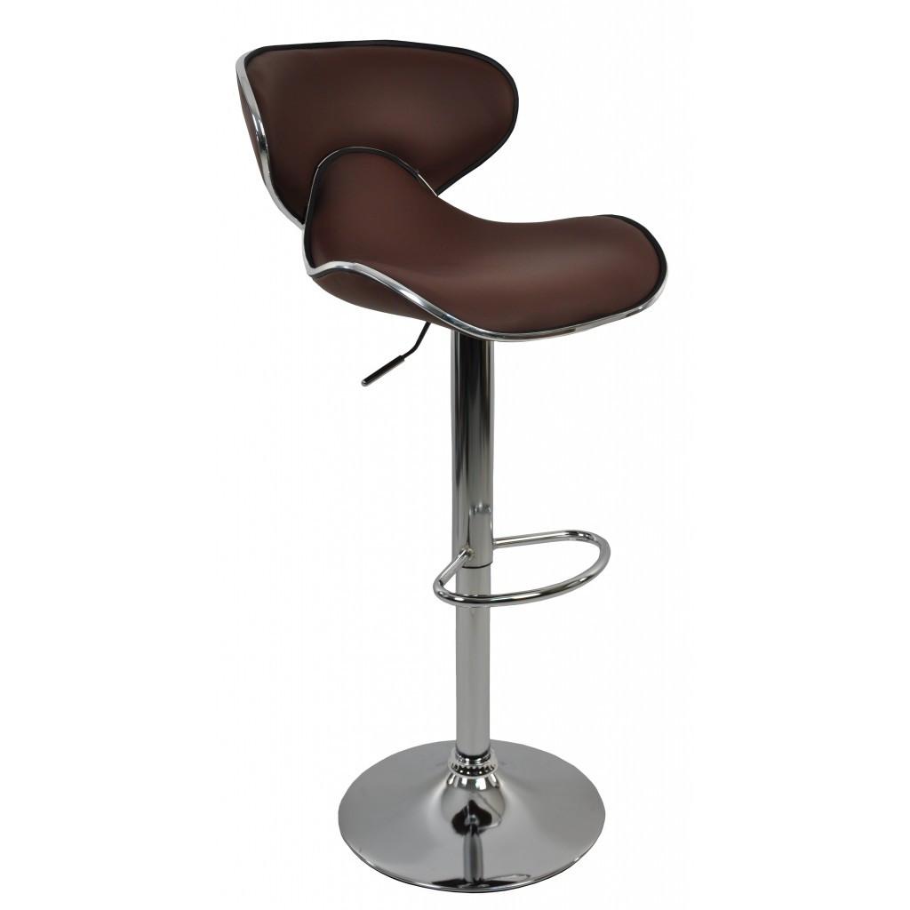 Барний стілець зі спинкою Bonro B-678 коричневий