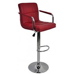 Барный стул со спинкой Bonro В-628-1 бордовый