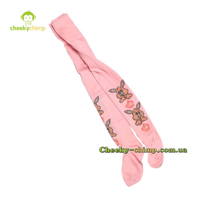 Колготы розовые на девочку 3-5 лет