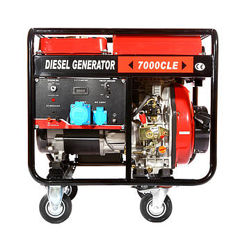Генератор дизельный WEIMA WM7000CLE (7 кВт, 1 фаза, электростартер)