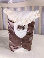 """Зимний конверт-одеяло """"Джентельмен"""" для новорожденных, фото 1"""