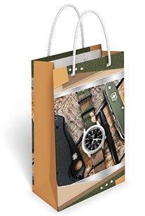 Бумажный подарочный пакет маленький вертикальный 17.7*10.9*5.6см №36,210 СП