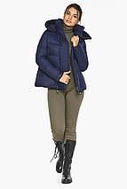 Куртка синяя короткая женская модель 43560, фото 3