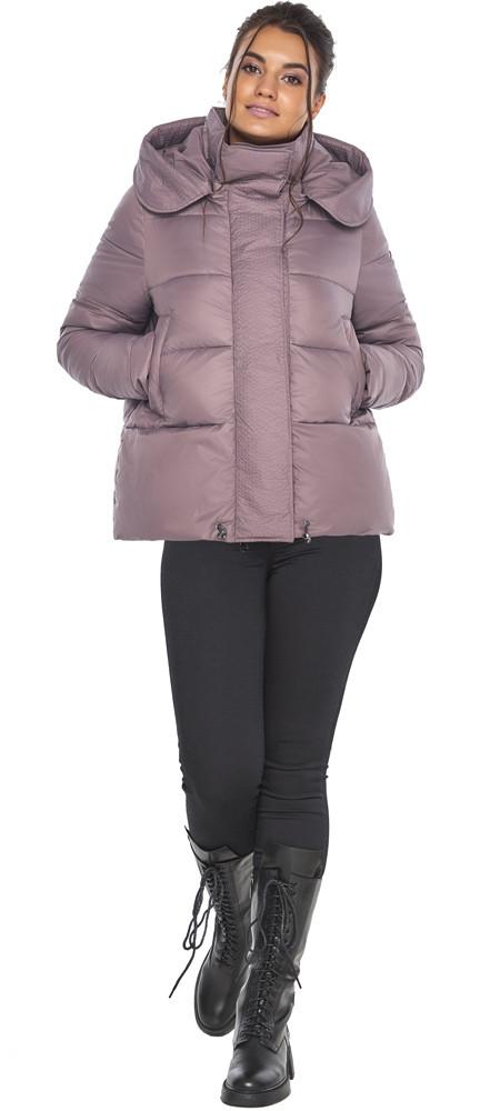 Пудровая куртка с ветрозащитной планкой женская модель 43560