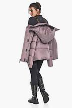 Пудровая куртка с ветрозащитной планкой женская модель 43560, фото 2