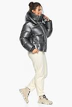 Куртка жіноча модний колір темне срібло модель 44210, фото 3