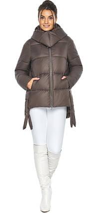 Оригінальна куртка жіноча колір капучіно модель 43070, фото 2