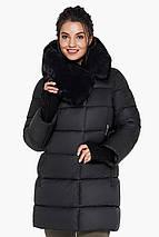 Черная куртка женская с прорезными карманами модель 31027, фото 3