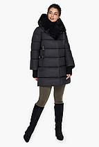 Чорна куртка жіноча з прорізними кишенями модель 31027 46 (S), фото 2
