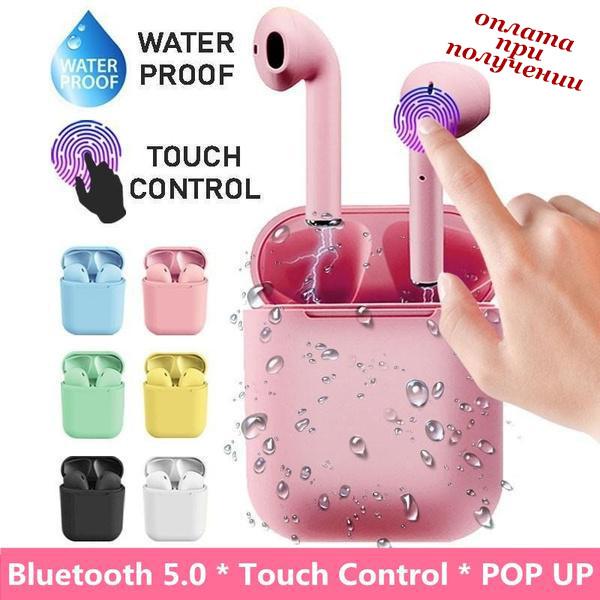 Бездротові вакуумні Bluetooth навушники СТЕРЕО гарнітура TWS Apple AirPods Pro inPods i12 СЕНСОРНІ 1:1 (5)