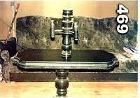 Стол гранитный с балясиной на кладбище образец № 469