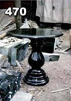 Стол гранитный круглый с балясиной на кладбище образец № 470