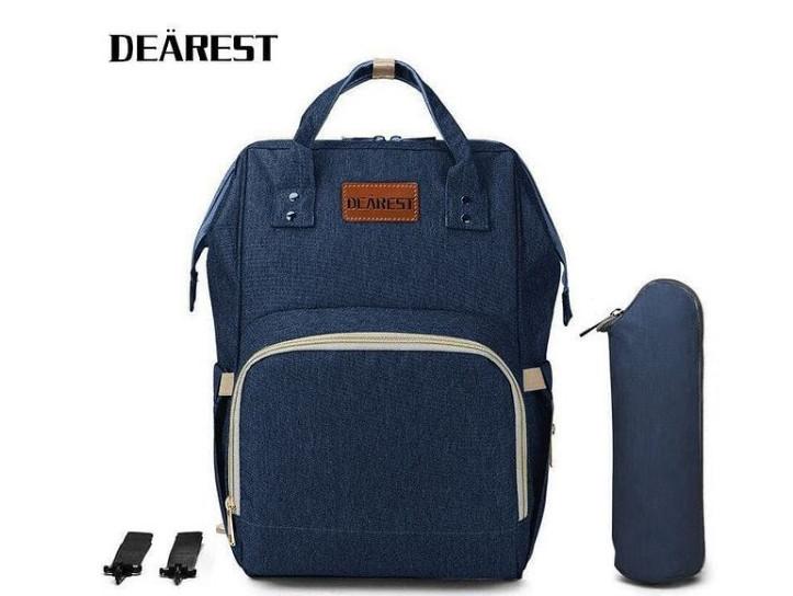 Рюкзак органайзер для мам Сумка для коляски синий